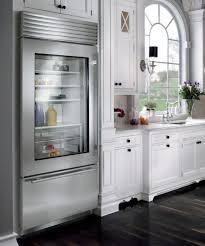 refrigerator glass doors ideas kitchen design white wood furniture