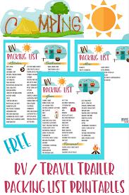 Free Rv Checklist Printable Packing List Must Have Mom