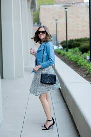 h m black and white spotted dress zara blue