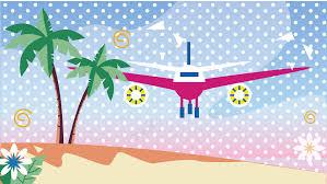 こんにちは8月夏休み旅行の背景デザインpngと背景画像aiファイルの