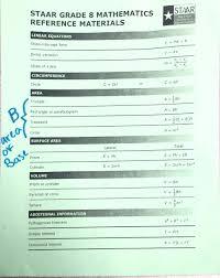 Staar Math Chart Formula Chart For Geometry 10th Grade 8th