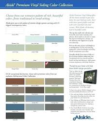 Mastic Siding Color Chart Vinyl Siding Color Chart Siding Colors Interesting Samples