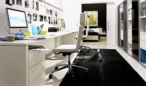 modern home office featuring glossy white. 20 Home Office Decorating Ideas For A Cozy Workplace Modern Featuring Glossy White