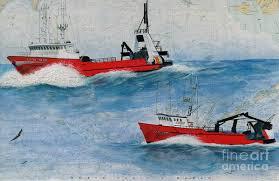Boat Chart Mar Gun And Gun Mar Alaska Fish Boat Chart Art Poster
