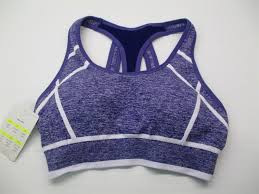 New Champion C9 Sport Bra Women Size S Seamless Purple Light
