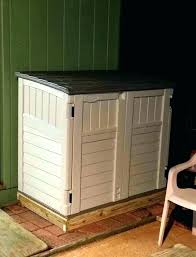 outdoor garbage can storage wooden holder wood shed trash