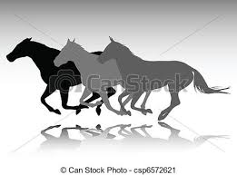running horse clipart black and white. Exellent White Wild Horses Running  Csp6572621 With Running Horse Clipart Black And White I