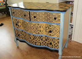 painting designs on furniture. For This Type Of Furniture Stencil Project: Choose Patterns That Relate To Each Other Painting Designs On S