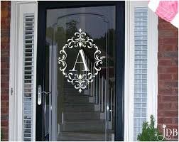 exterior door stickers. personalized monogram glass storm door decal - by jaykasdecalboutique on etsy https:/ exterior stickers s