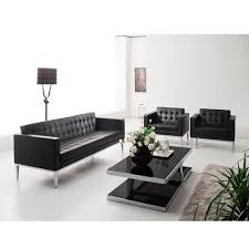 leather office couch. black leather office sofa set ozosf001 couch