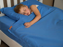 bright blue king single 100 cotton kids zip sheets