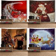 xmas household printing wall hanging tapestry sled santa wall ornaments wall art christmas home decoration gift in tapestry from home garden on  on christmas wall art tapestry with xmas household printing wall hanging tapestry sled santa wall
