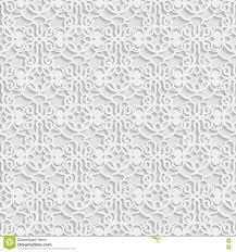 Naadloos 3d Wit Patroon Indisch Ornament Perzisch Motief Vector