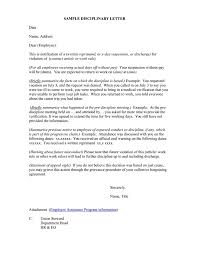 5 Employee Reprimand Letter Sample This Is Charlietrotter