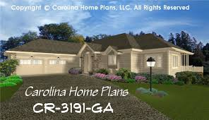large contemporary ranch house plan 4 bdrms study 3 baths 2 story down