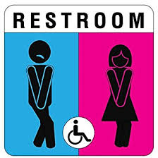 bathroom sign. Wonderful Sign Unisex Bathroom Signs Beautiful On With Amazon Com Unique Sign Funny And  Modern Restroom 26 Intended