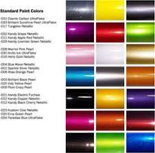 Car Paint Colors Chart 7 Best Auto Paint Color Charts Images Paint Color Chart