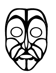 Small Picture Mask Coloring Pages Coloring Home