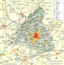 madrid map  driving guide  urban navigation directions  free