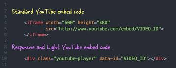 youtube video image size how to embed youtube videos responsively without increase page size