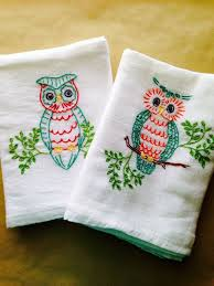 248 best embroidery tea towel images