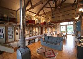 Small Picture barn house decorating ideas Converted Into Cool Living Room