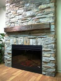 image of stone facade fireplace