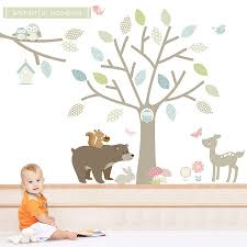 woodland animal wall stickers image on not on the high street wall sticker