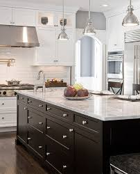 Innovation Kitchens With Black And White Cabinets In Gallery Lovely Pendant Lights For The Traditional To Ideas