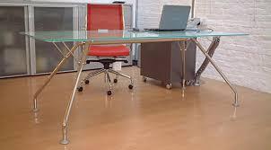 large glass office desk. Appealing Interior And Furniture: Remodel Inspiring Habitat Metal Desks Chrome Large Glass Desk Office A