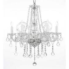 empress 5 light crystal chandelier