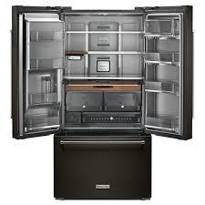 kitchenaid black stainless. kitchenaid counter depth french door black stainless steel kitchenaid