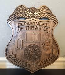 U S Army Counterintelligence Ci Custom Made Wood Plaque