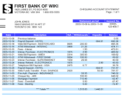Sample Bank Statements Template Bank Statement Wikipedia Bank Statement Bank Statement