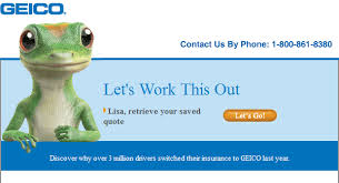Geico Saved Quote Impressive Geico Creative EyeMail