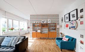 collect this idea multicolored walls and light hardwoods