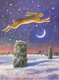 Solstice Greetings to all my wonderful fellow travellers — Hare in The Moon