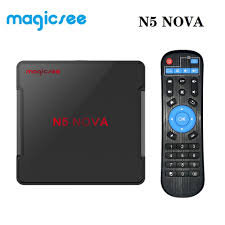 Magicsee N5 NOVA Android 9.0 TV Box RK3318 Quad Core ROM 2.4+5G Dual Wifi  Bluetooth 4.0 Smart Box 4K Set Top Box with Air Mouse|Set-top Boxes