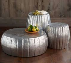 popular silver drum coffee tables with coffee table amazing thin side table white round coffee