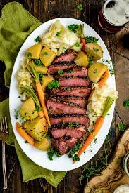 slow cooker corned beef with sweet