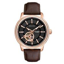 bulova mechanical rose gold automatic men s watch 0005686 bulova mechanical rose gold automatic men s watch