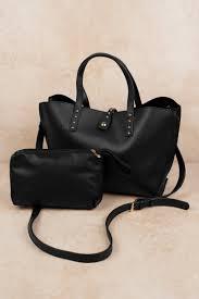like dreams like dreams toni black studded tote bag