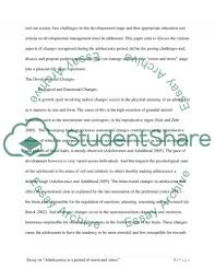 adolescence is a period of storm and stress essay adolescence is a period of storm and stress essay example