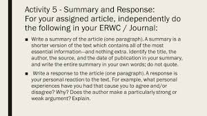 Summary Response Essay Responding to Reading  Reading Critically     Thumbnail image of item number   in   Does the Arousal System Contribute to  Near