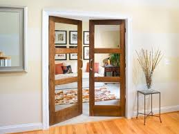 interior solid wood door with glass insert are elegant and stylish interior exterior doors designs installation ideas