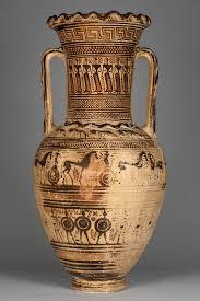 Grecian Pottery Designs Commemorating The Dead In Greek Geometric Art The Getty Iris