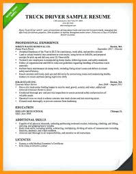 Trucking Resume Sample Truck Driver Resume Template 2 Trucking