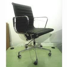 eames inspired office chair. This Eames Style Ribbed Leather Office Chair In Black Combines Superior Comfort \u0026 Timeless Design, With A Host Of Adjustments And Next Day Delivery! Inspired E
