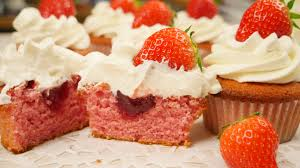 Filled Strawberry Cupcakes Strawberry Cupcakes Strawberry Cream