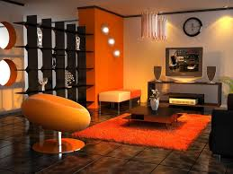 Living Room (Black & Orange)